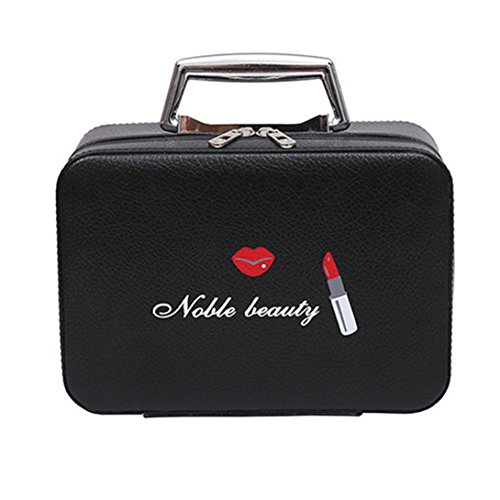 Gaddrt Portable voyage maquillage sac maquillage case mini maquillage train Zipper rangement (A)