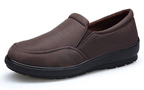 KOUDYEN Donna Scarp Mocassino Loafers Flats Piatto Impermeabile Marrone