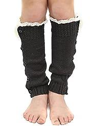 Fletion Bébé Enfant Garçons Filles Bottes Chaussettes Hiver chaud Jambières chaussettes tricot Longueur leggings chaussettes Bottes Chaussettes
