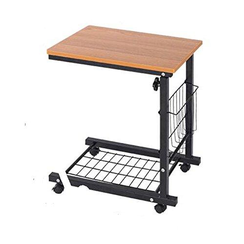 MEI XU Tabellen Ecktisch - Abnehmbarer Couchtisch Beistelltisch Höhenverstellbarer Loungesessel Sofa Ablagefläche Computer Schreibtisch Büchertisch Optional Farbe @ (Farbe : Teak Color) - Teak-klapp-beistelltisch