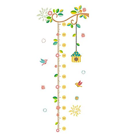 Winhappyhome Children's Height Measurement Chart Wall Art Stickers for Kids Room Living Room Nursery Background Removable Decor Decals