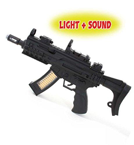 Maschinenpistole mit Licht,Sound & Vibration, ca. 40cm Länge, Spielzeugpistole, Spielzeug, Kinderspielzeug, Karnevalsaccessoire, Kostümzubehör, Rollenspiele, Kinderrollenspiele, - Spielzeugpistolen