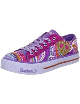 Skechers ShufflesHeart Sparks 10194L PMLT - Zapatillas de lona para niña