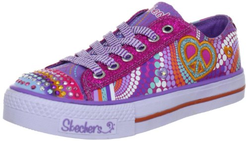 Skechers ShufflesHeart Sparks 10194L Mädchen Sneaker, Pink (PMLT), EU 35 (Sneaker Cali Canvas)