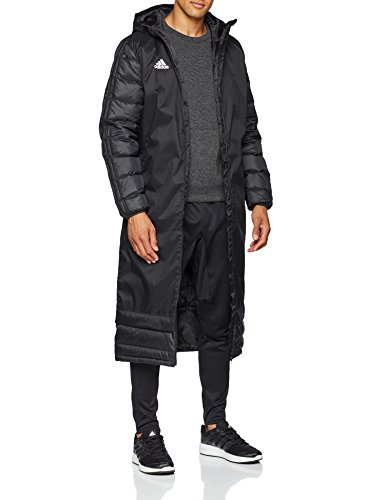 adidas Herren 18 Winter Mantel, Black/White, L