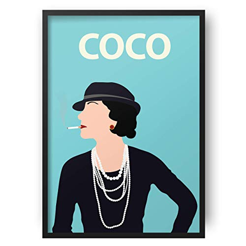 Coco Chanel Poster // Blue   Artwork   Póster