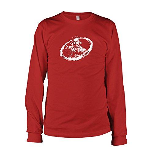 erren Langarm T-Shirt, Größe S, rot (Dr Doom Kostüm Maske)