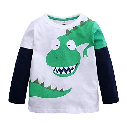 ädchen Süß Karikatur Dinosaurier Drucken Bluse Kleinkind mit Langen Ärmeln Freizeit Sweatshirt T-Shirt Kinder Baumwolle weiche lässige Top Kleidung Outfits ()