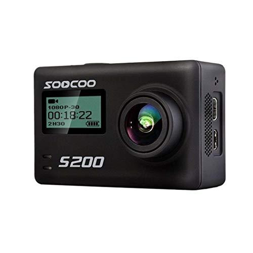 GGPUS Outdoor-wasserdichte Sport-Action-Kamera 2,45-Zoll-Bildschirm S200 Tauchen Radfahren Luftaufnahmen DV-Camcorder (schwarz) S200 Kamera