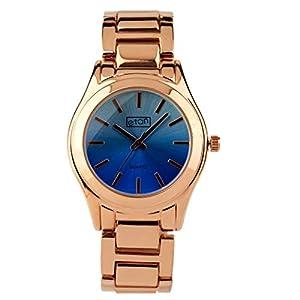 Reloj Acero Dorado Azul