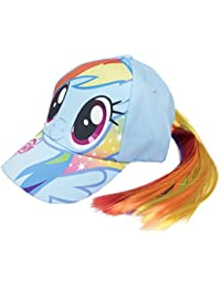 Girls My Little Pony Baseball Cap Hair Tail Rainbow Unicorn Hat + Ponytail