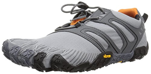 Vibram FiveFingers Herren V-Trail Sneaker, Grau Grey/Black/Orange, 45 EU