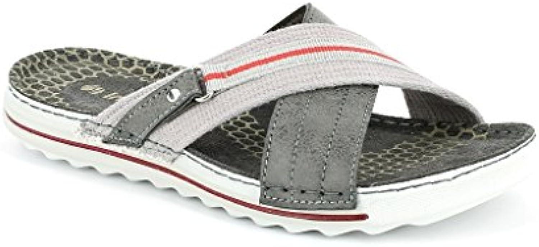 Inblu - Zapatillas de Estar por casa de Piel sintética para Hombre Gris Gris 40 EU -
