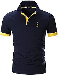 e79b12d69174 STTLZMC Mens Casual Short Sleeve Polos Tennis Golf Classic Polo Shirts