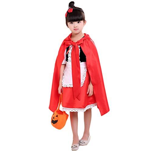 Red Riding Hood Kostüm Accessoires - hivia Halloween Kostüm Rotkäppchen Faschingskostüme mit