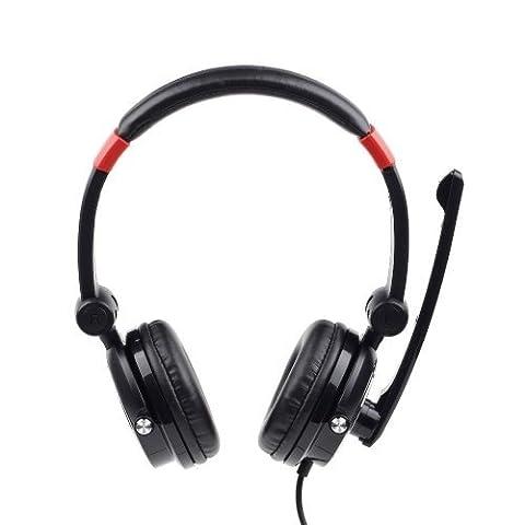 iChoose Limited Casque audio à son Virtual Surround avec micro intégré pour gamer/PC/ordinateur portable/chat/Skype