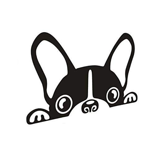 jkhhi Süßer Hund Autosticker Aufkleber Cartoon Wasserdicht Vinylaufkleber Reflektierend Autotattoo Sticker für Auto (Schwarz, 1PCS) -