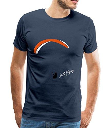 Spreadshirt Fallschirm Paragliding Männer T-Shirt, 5XL, Navy (Blau Fallschirm)