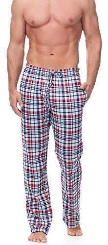 Timone Herren Schlafanzugshose TPP-001 (Muster-13 (2187/18), XL) (Rot Pyjama-hose)