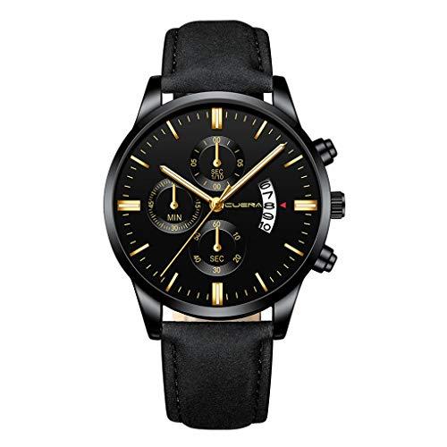 Quartz Uhren für Herren, Skxinn Herrenuhren,Männer Armbanduhr Analog Business Minimalistische Quartz Armbanduhren mit Kunstlederband, Ausverkauf(A,One Size)