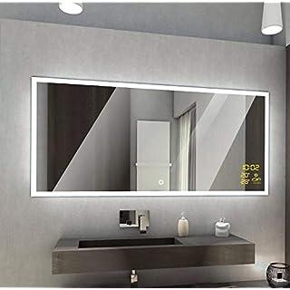 Badspiegel mit LED Beleuchtung von Spiegel-Magic | Wandspiegel Badezimmerspiegel | B x H: 130 cm x 60 cm | Nairobi Design