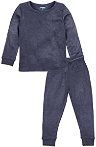 Bubbles Baby Full Sleeves Thermal Wear Set for Kids (0-3 months, Black)