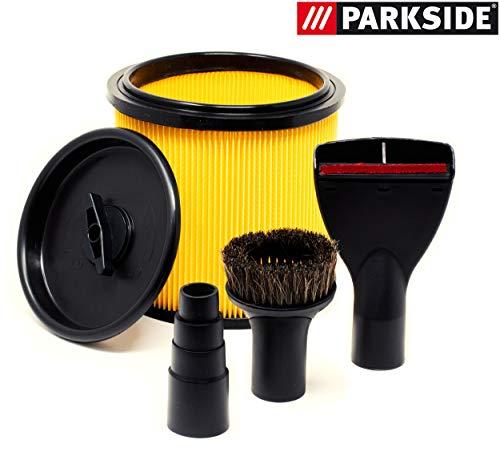 Parkside PNTS 1500 A1 B2 B3 C4 Faltenfilter Deckel Reduzierstück Teppichdüse Saugpinsel Staubsauger Düse Set Filter NTS 1500A1 1500B2 1500B3 1500C4