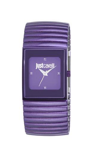Just Cavalli Rainbow R7253185502 - Reloj para Mujeres, Correa de Acero Inoxidable Chapado Color Morado
