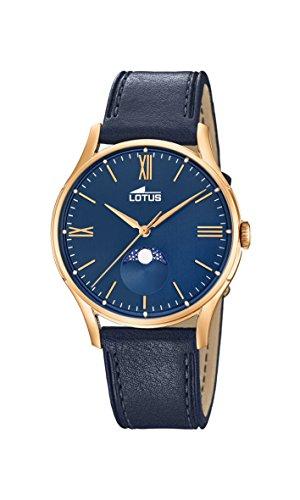 Lotus Watches Homme Phase de Lune Quartz Montre avec Bracelet en Cuir 18428/2