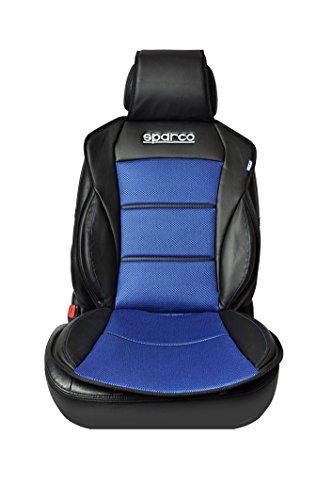 SPARCO SPC0902AZ Schienale Cuscino Copri Sedile 3D, Nero/Blu