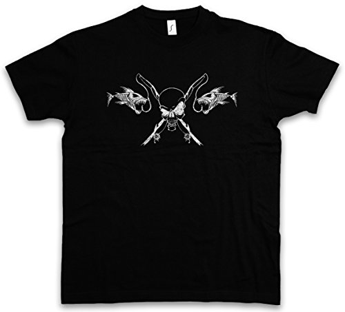 Urban Backwoods Fishing Skull T-Shirt - Größen S - 5XL (Shirts Hunting Redneck)