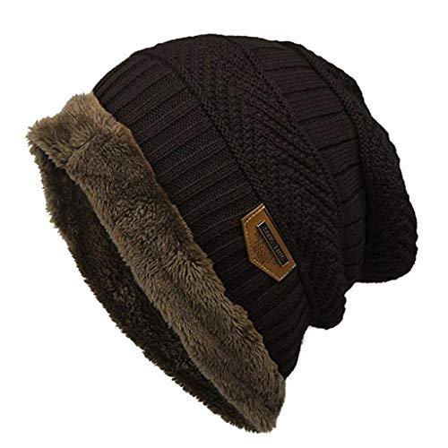 (Mitlfuny Black Friay DE Cyber Monday DE,Mode Fleece Kontrast Farben gestrickte warme Winter hüte für Frauen männer)
