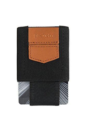 POCKETO PULL-OUT ELASTIC CARD HOLDER,una funda elástica de tarjetas para hombres y mujeres,cartera minimalista para tarjetas de crédito,permiso de conducir u otros documentos,ideal para viajes (Negro)