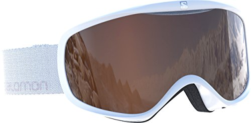 Salomon Sense Access esquí para Mujer, Compatible con Gafas de Vista, Tiempo Variable, Lente Naranja (Intercambiable), Sistema Airflow, Blanco, Uni