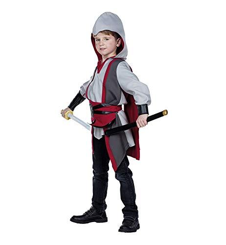 Idealtrend Kostüm Kinder Gr 104-164 Mädchen Jungen Fantasy Fasching Karneval Cosplay Unisex: Farbe: Assassin Krieger | Größe: ()