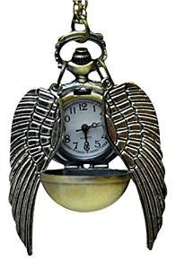 BOMIEN Golden Snitch Uhren-Halskette mit einzigartigem Steampunk-Design, Quidditch-Tasche, Uhr-Anhänger