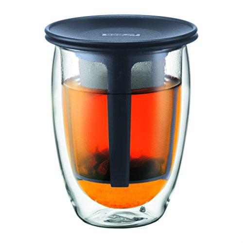 Bodum Tea For One - Tetera individual, 0,35 l, vaso térmico de borosi