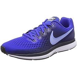 Nike Air Zoom Pegasus 34, Zapatillas de Running para Hombre, Azul (Hyper Royal/Obsidienne/Teint Royale/Pouls Royal 409