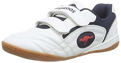 KangaROOS Backyard, Unisex-Kinder Sneakers, Weiß (wht/navy/red 046), 27 EU