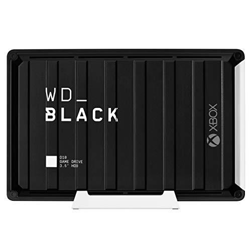 WD_Black D10 Game Drive for Xbox externe Festplatte 12 TB (Übertragungsgeschwindigkeit bis zu 250, 3 Monate Xbox Game Pass Ultimate, 7200 U/min und aktive Kühlung) Schwarz