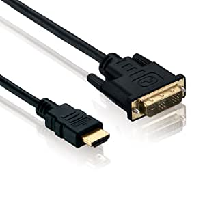 Adapterkabel HDMI (19-pol.) auf DVI-D Stecker/Stecker, 5 m