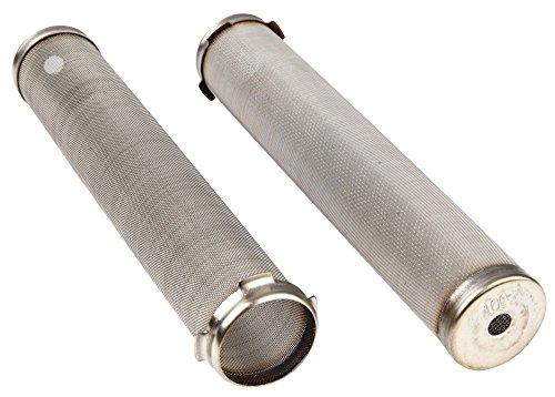 AES p.1550–300Filtro de colector para Q-TECH, airlessco, amspray, Asturo, Graco y Geen Bomba de aire, 300de malla, 27mm de diámetro x 144mm (Pack de 10)