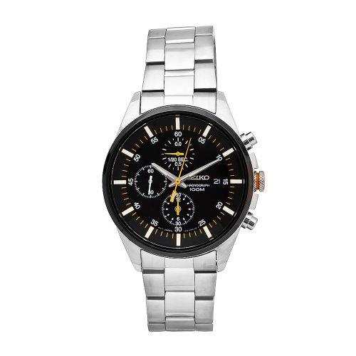 Seiko Herren-Armbanduhr Quartz Chronograph Quarz Edelstahl SNDC85P1