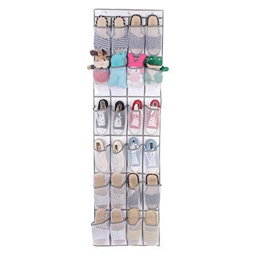 über dem tür schuh organizer - 24 Atmungsaktive Taschen, hängender Schuh-Halter für die Maximierung der Schuh-Aufbewahrung, Platz sparen und halten alle Ihre Artikel ordentlich und ()