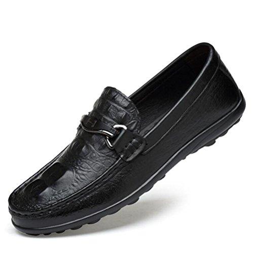 Männer Schuhe Leder Casual Mokassin Stil Faux Crocodile Loafers Größe 38 bis 45 , EU40 -