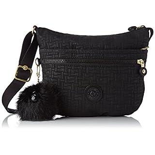Kipling Arto S, Women's Cross-Body Bag, Black (Black Pylon Emb), 3x25x21 cm (B x H T)