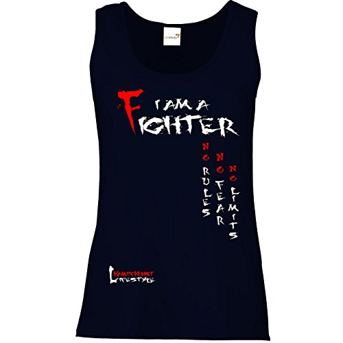 getshirts - Kampfkunst Lifestyle Shop - Tank Top Damen - Kampfkunst Lifestyle - I am a Fighter Dunkelblau