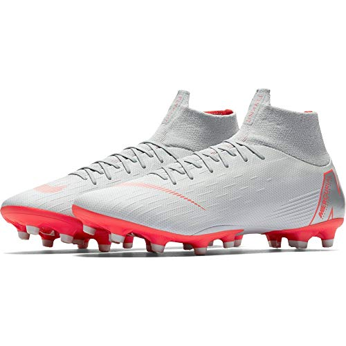 reputable site 1de0f dab04 Nike Superfly 6 AG-Pro, Zapatillas de Deporte Unisex Adulto, (Wolf Grey/Lt  Crimson/Pure Platinum 060), 42 EU