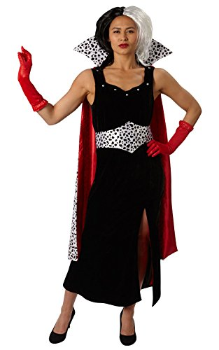 Kostüm Deluxe Kind Vervollständigen - Rubie 's Offizielles Damen Cruella de M Deluxe 101Dalmatians Kostüm-groß