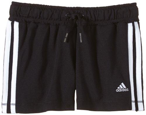 adidas Kinder kurze Hose Essentials Knit Short, Black/White, 116, Z32284 (Shorts Mädchen Knit Bermuda)